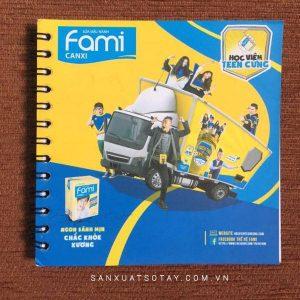 Sổ Tay lò xo Sữa đậu nành FAMI
