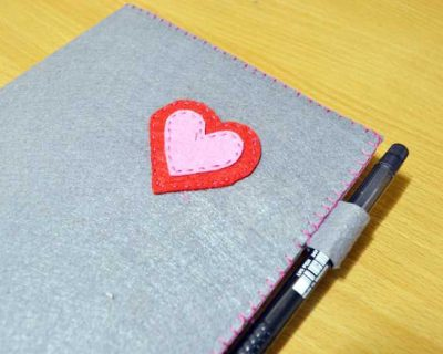 Hướng dẫn tự làm bìa sổ tay handmade
