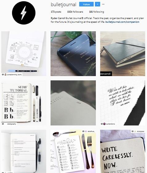 Lấy Cảm Hứng Ghi Chép Bullet Journal Từ Những Tài Khoản Instagram Này 1