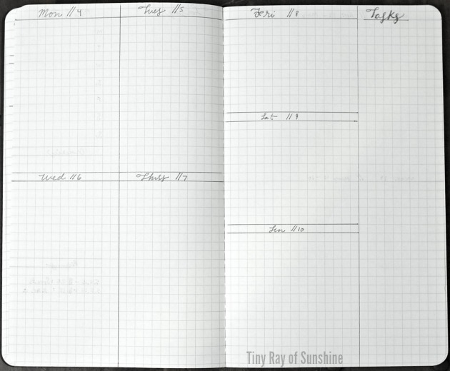 Weekly Layout Cho Bullet Journal 6