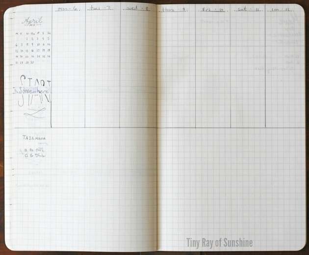 Weekly Layout Cho Bullet Journal 4