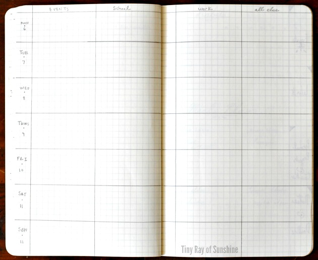 Weekly Layout Cho Bullet Journal 8