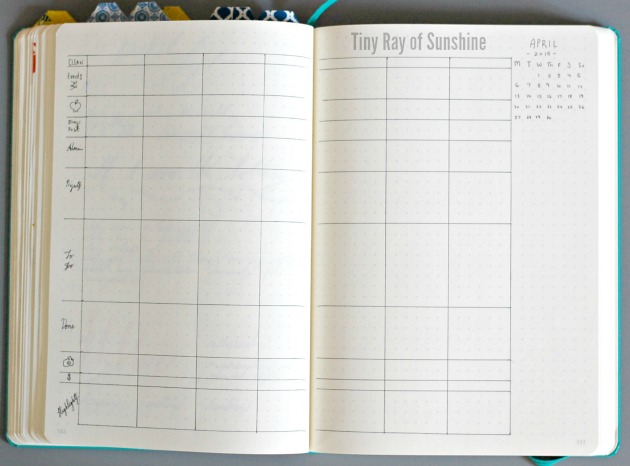 Weekly Layout Cho Bullet Journal 9
