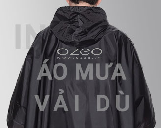 sản xuất áo mưa vải dù