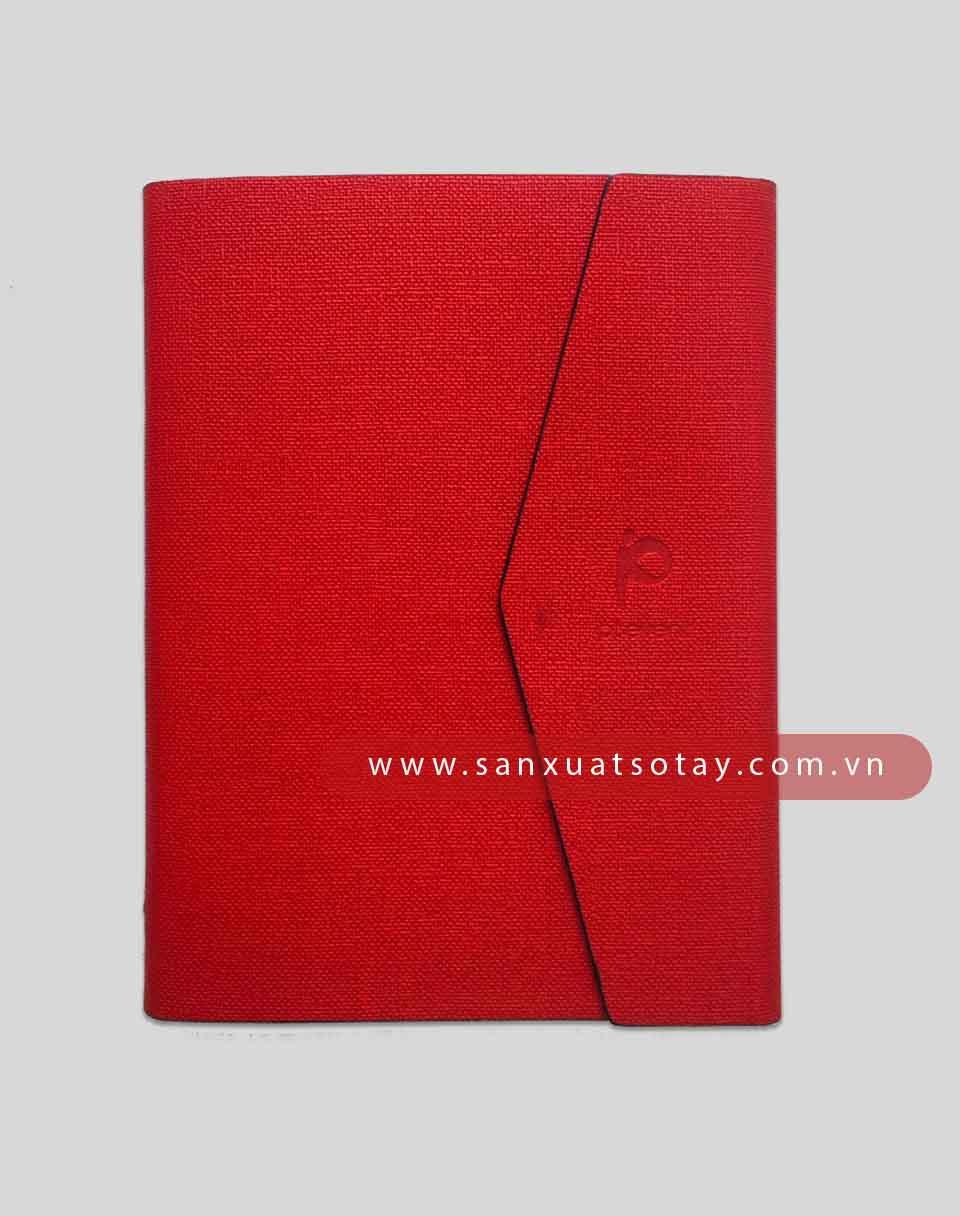 Bìa Sổ Da Pu Pt Event (Màu đỏ) 2