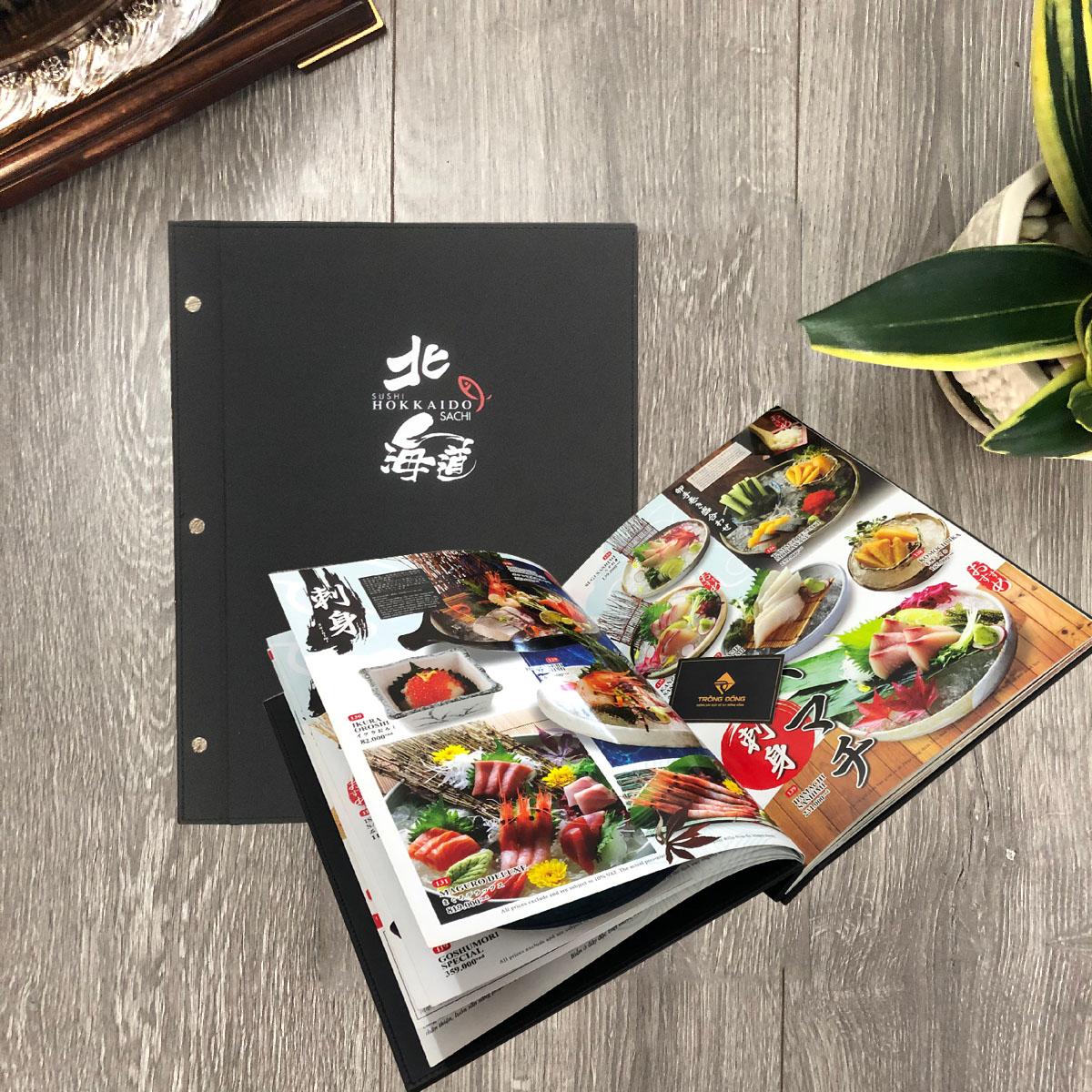 Menu Bìa Da Cao Cấp SUSHI HOKKAIDO SACHI 213 15