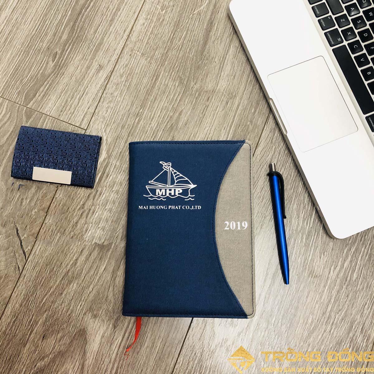 Sổ tay bìa da lò xo Mai Hương Phát 206