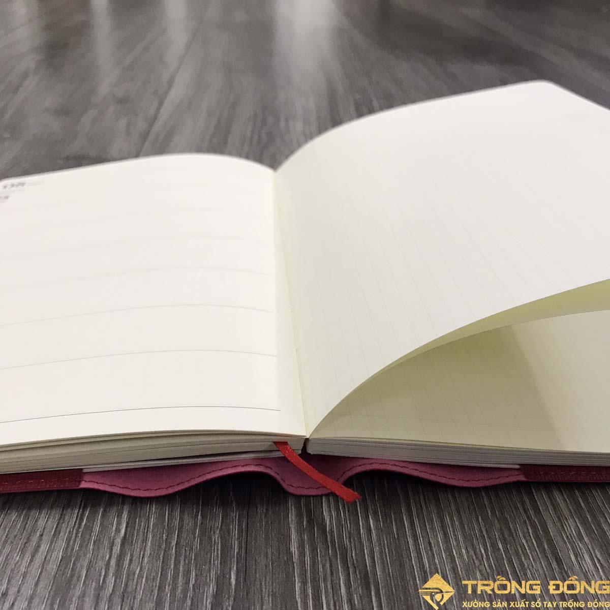 Phần ruột sổ dán gáy của mẫu sổ da bìa nhét SDTĐ 06