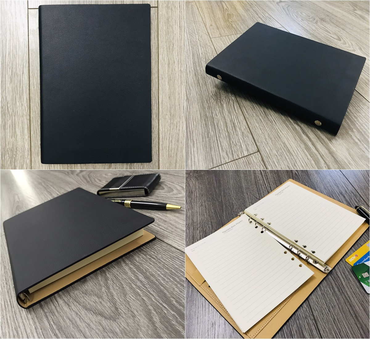 Mẫu sổ bìa da có sẵn mẫu LSA5-G2B màu đen