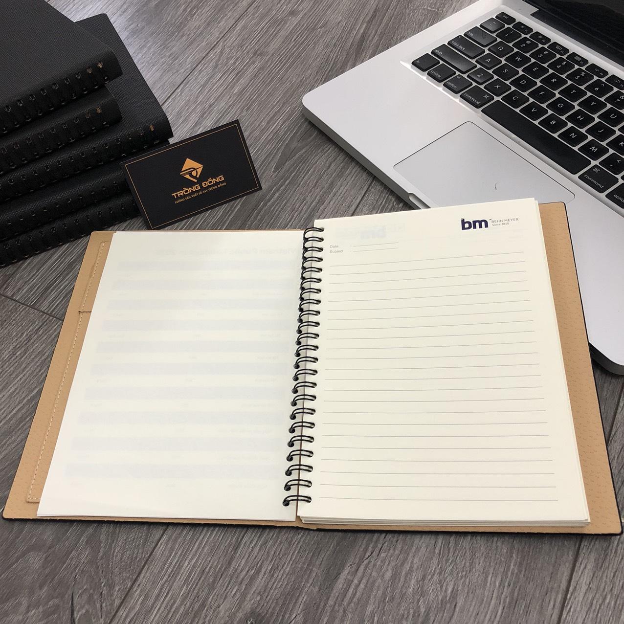 Phần ruột sổ của mẫu sổ tay LSA5 lò xo 01