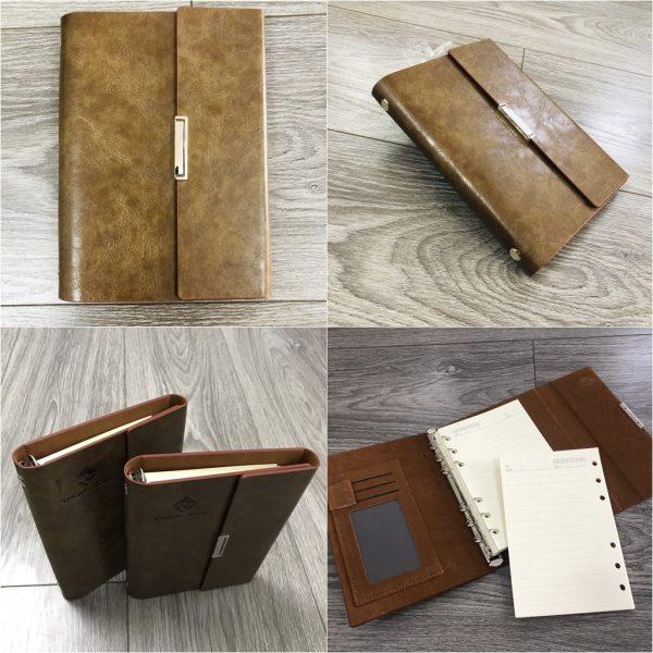 Sổ Tay Bán Chạy - Sổ Lăn Sơn A6 Gập 3 Còng 1,5cm - LSA6 - 01B 1
