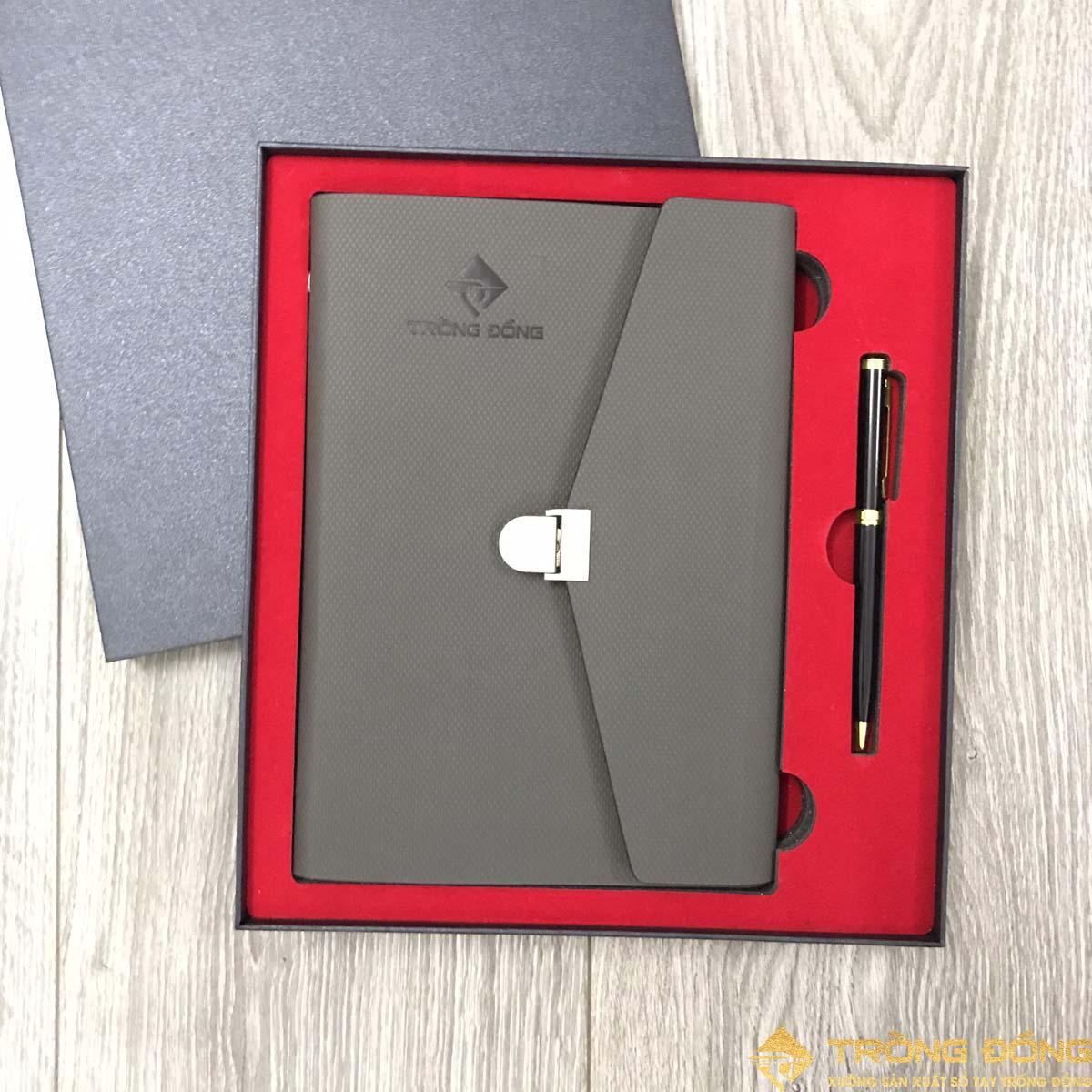 Bộ combo quà tặng sổ tay kèm bút kim loại cao cấp