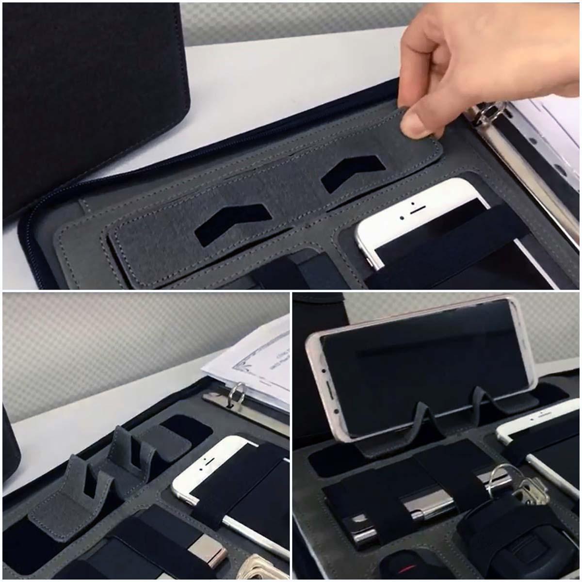 Phần giá đỡ điện thoại được thiết kế chắc chắn, tiện lợi cho người dùng