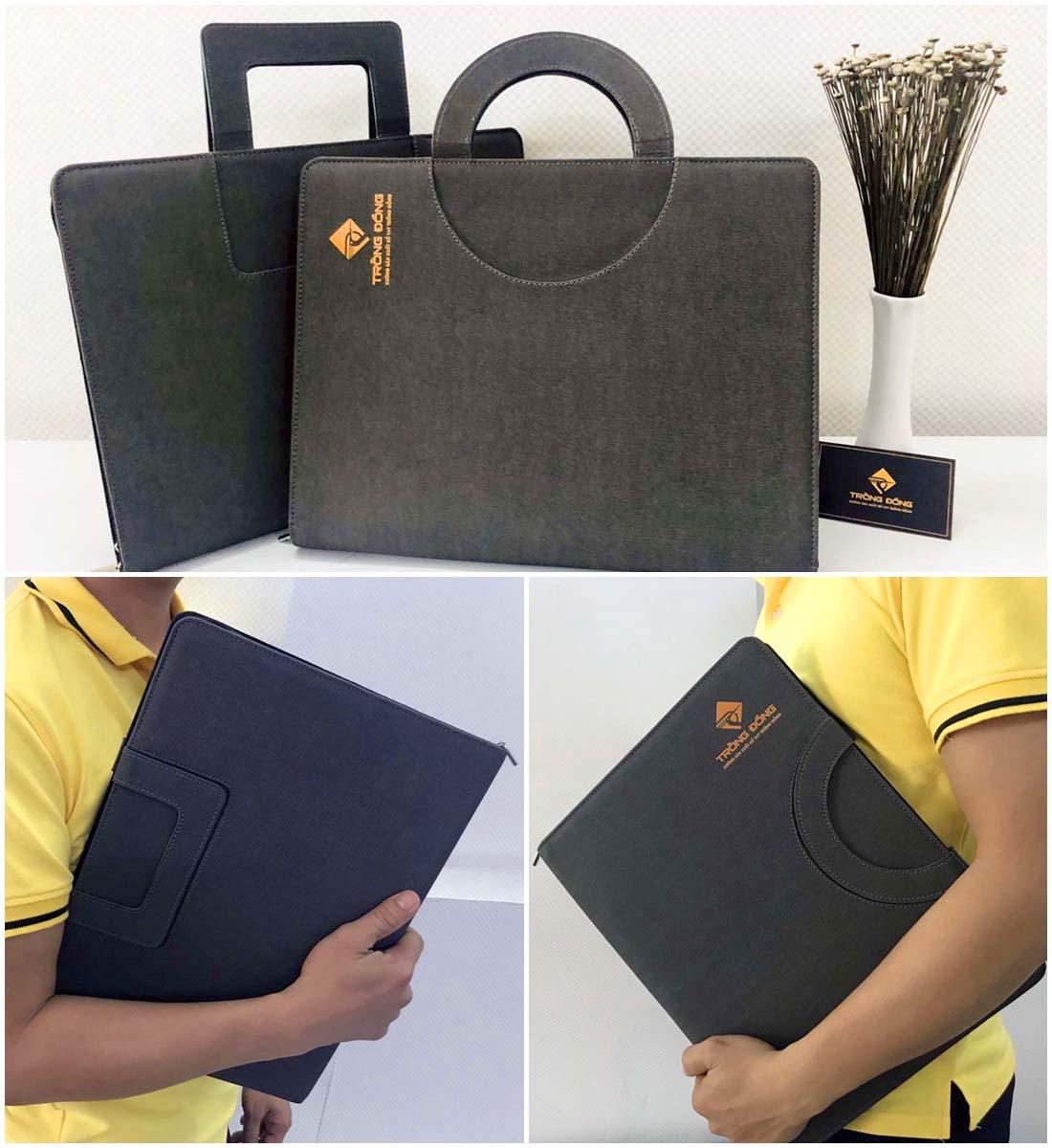 Cặp da đựng tài liệu A4 có thiết kế kiểu dáng tay cầm phù hợp cho cả nam lẫn nữ