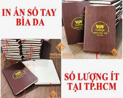 In Sổ Tay Bìa Da Số Lượng Ít Tại Tp.HCM